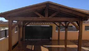 Навес с двускатной крышей 5х3