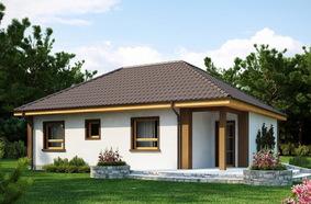 Одноэтажный дом 10х10 из пеноблоков