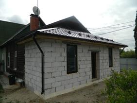 Пристройка к дому из газобетона
