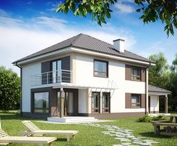 Дом 10х8 двухэтажный из пеноблоков