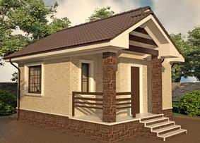 Дачный дом 6х6 из пеноблоков