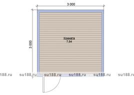 Хозблок садовый 3х3 двухскатная крыша